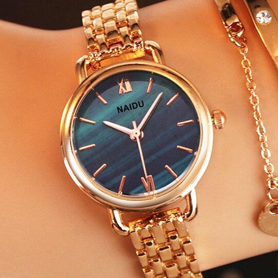 Relojes De Marca Naidu Para Mujer Reloj De Pulsera De Cuarzo Para Mujer Reloj De Pulsera Femenino Reloj In 2020 Ladies Bracelet Watch Bracelet Watch Womens Watches