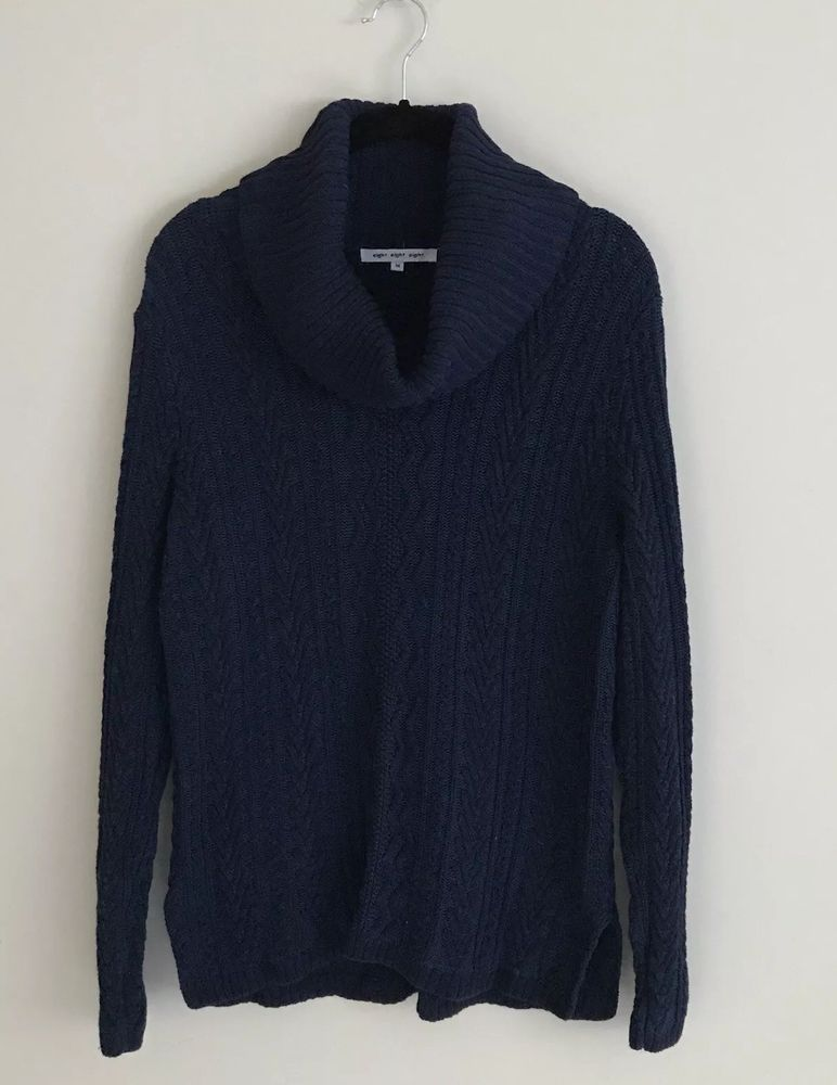 8f537ab9b Womens Navy Sweater Cable Knit Sweater