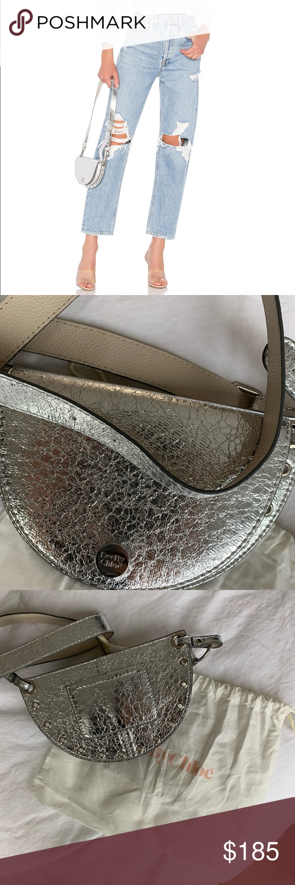 See by Chloe Metallic Belt Bag Brand new. Never been worn! See By Chloe Bags Mini Bags #seebychloe