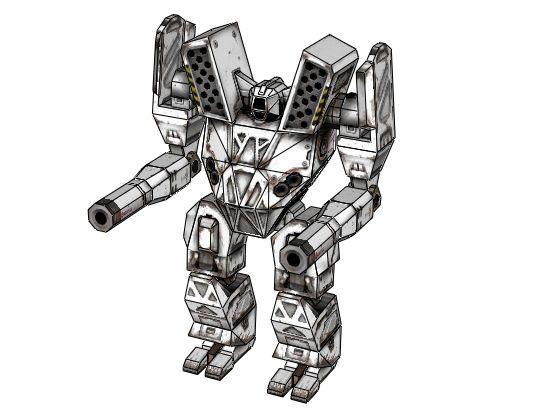 MechWarrior 4 - Mauler Free Assault Mech Paper Model
