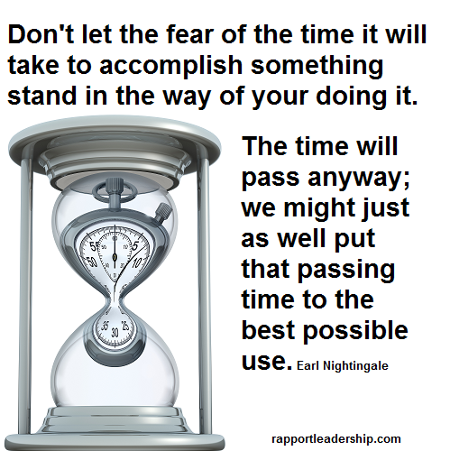 Don't let the fear of time