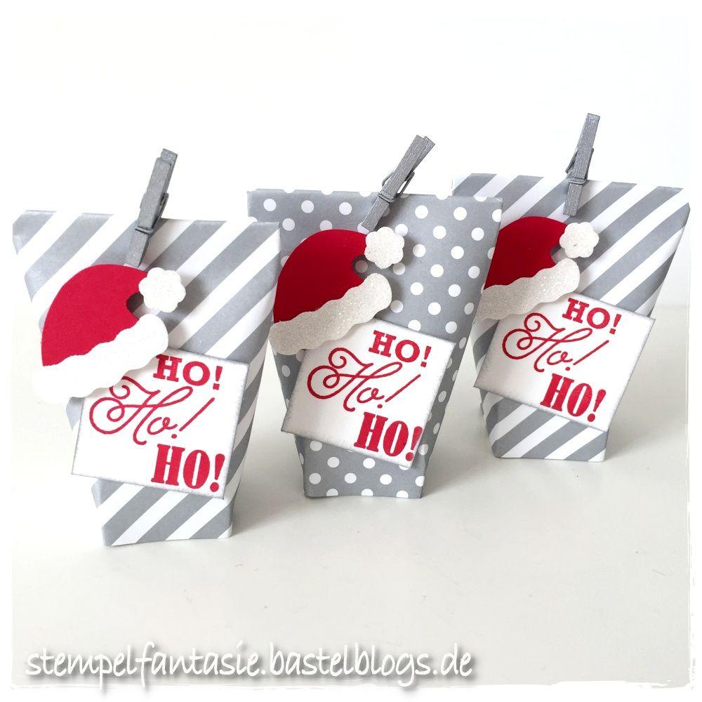 mini box in a bag mit weihnachtsm tze geschenkverpackung. Black Bedroom Furniture Sets. Home Design Ideas