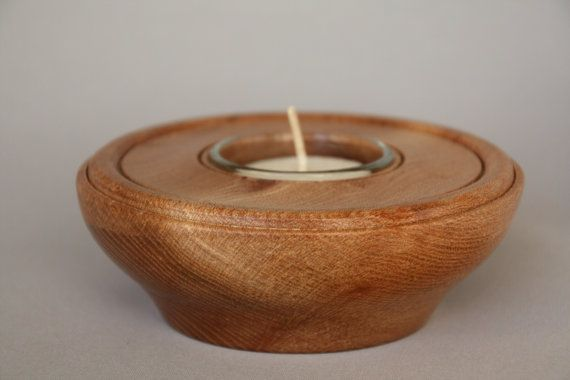 Wall Sconce Wooden tealight holder Tea light hand carved candle holder ash