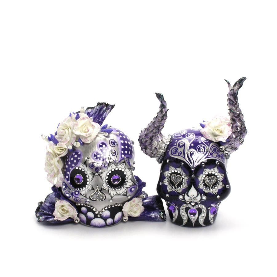 Viking inspired Mexican folk Art Day of Dead and Halloween theme ...