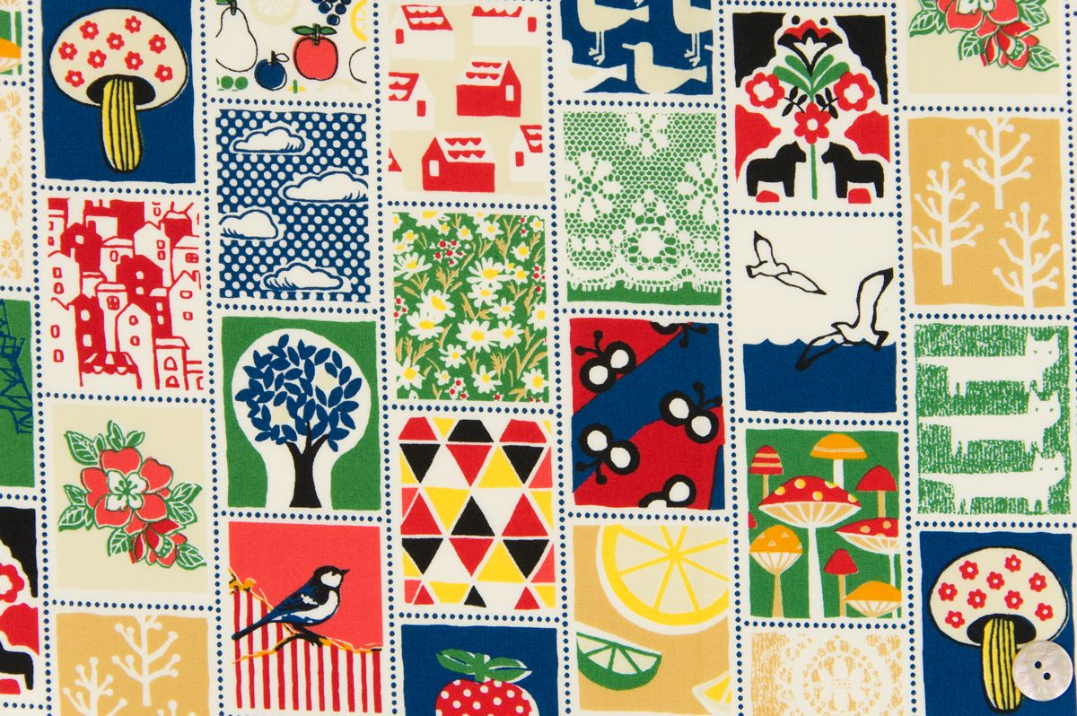 Multi animales por Cosmo Japón 100/% Cotton Quilting /& Patchwork Tela