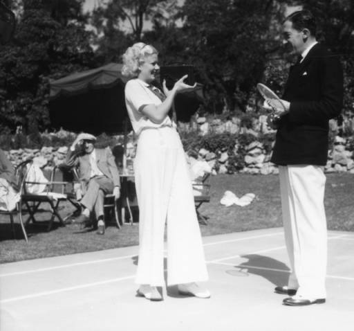 Badminton At The Huntington Hotel View 1 Los Angeles Public Library Photo Collection Hotel California Majestic Hotel Hotel