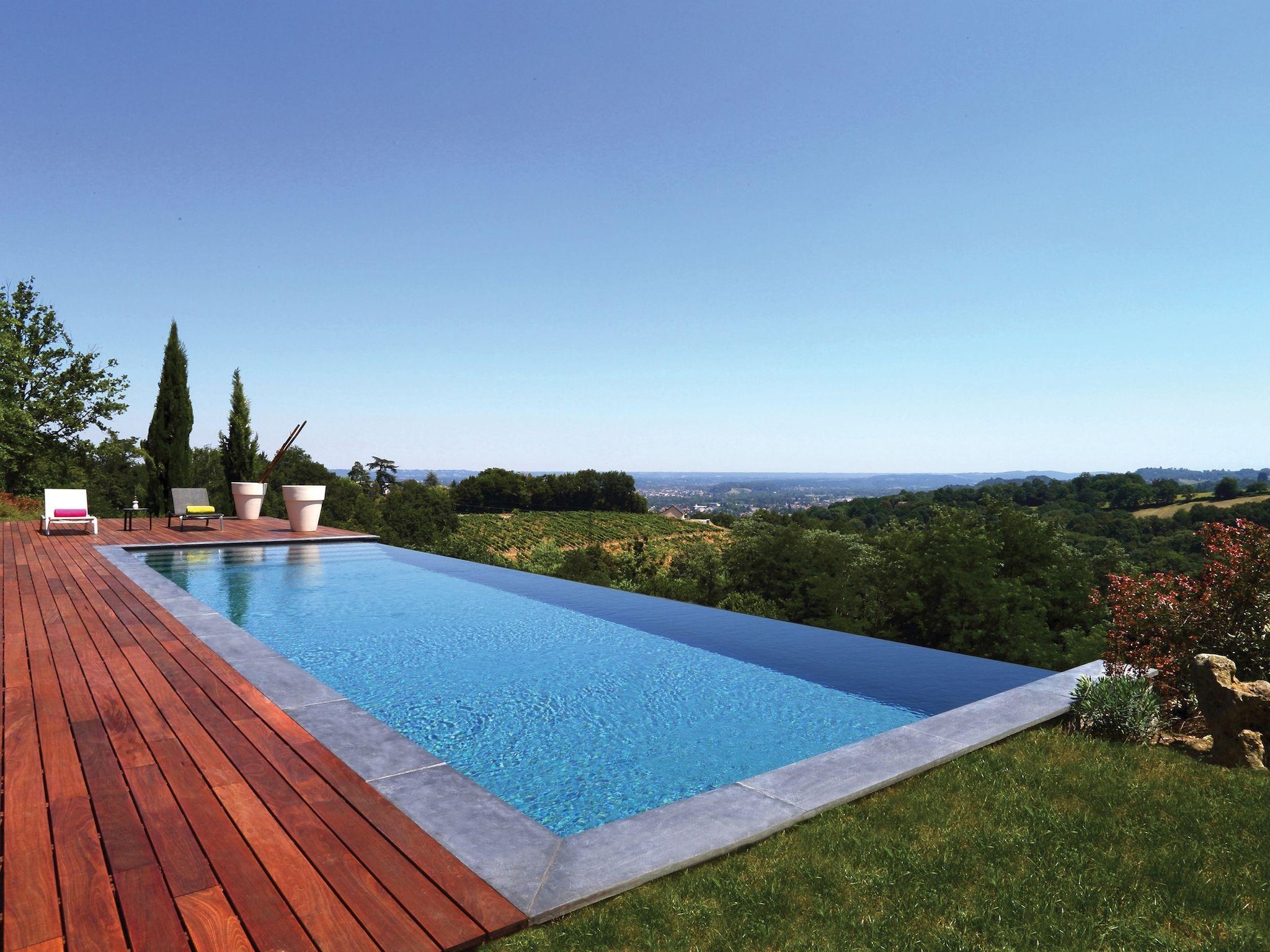Le d bordement par l 39 esprit piscine 12 5 x 4 m for Sims 4 piscine a debordement
