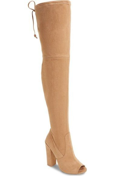 Elliana Over the Knee Open Toe Boot (Women)