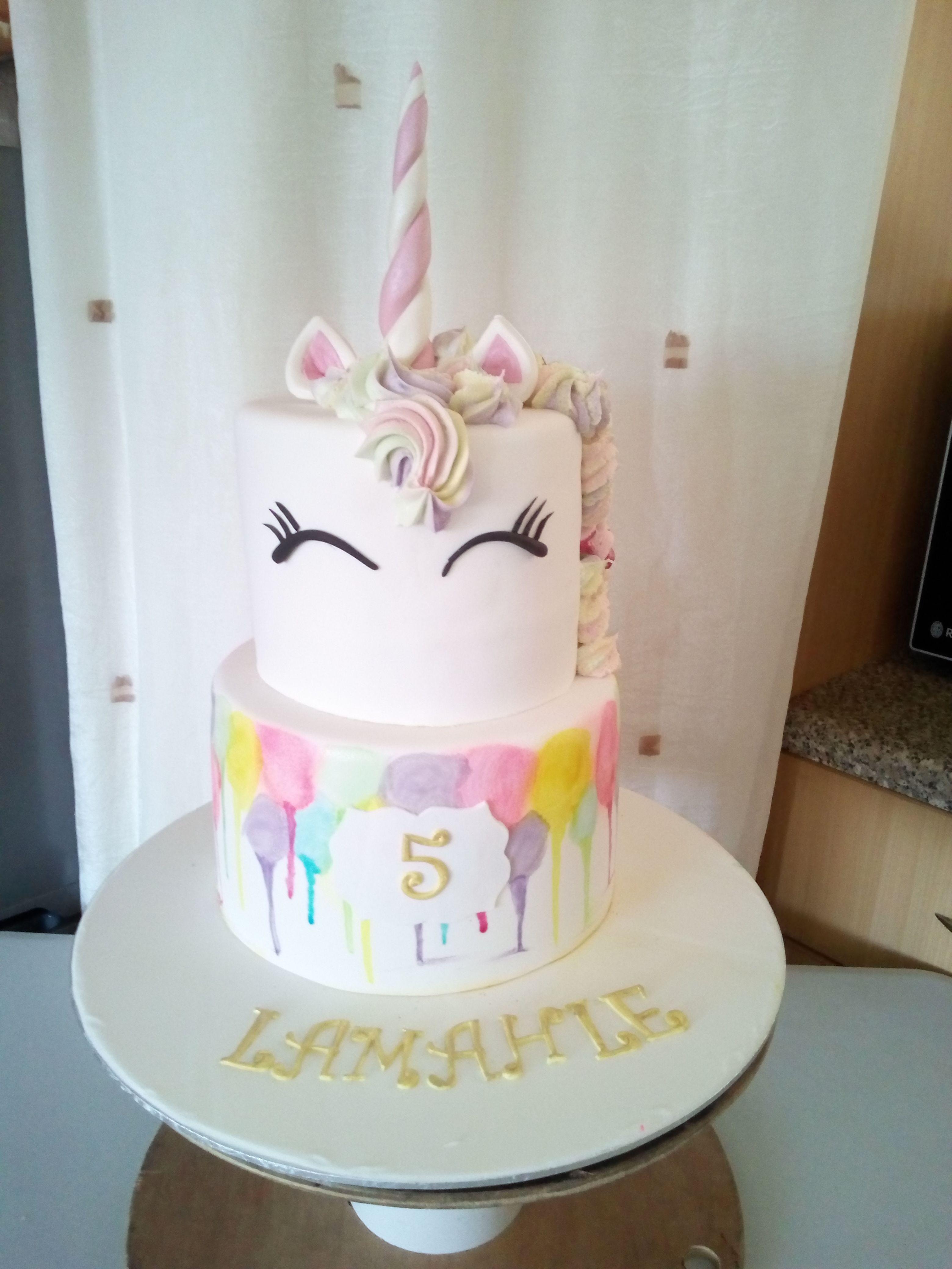 Amazing Unicorn 5Th Birthday Birthday Cake Birthday Cake Birthday Funny Birthday Cards Online Bapapcheapnameinfo