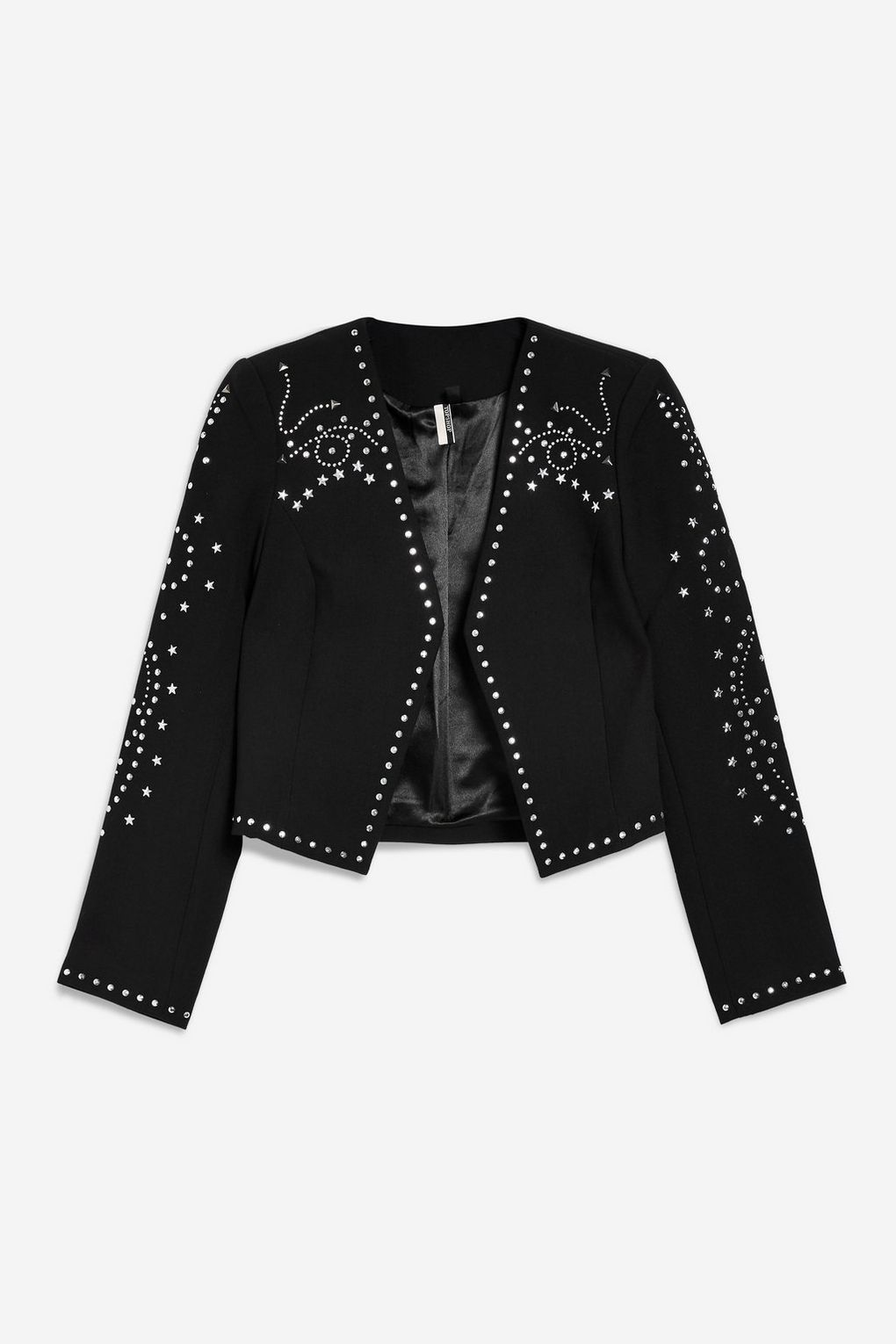 Cropped Studded Jacket - New In Fashion - New In - Topshop d55850408e