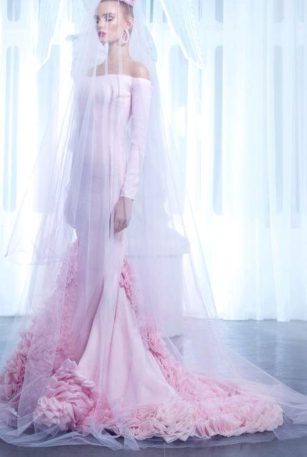 Nicolas Jebran Wedding Dress Inspiration Modwedding Wedding Dresses Pink Wedding Gowns Wedding Dress Inspiration