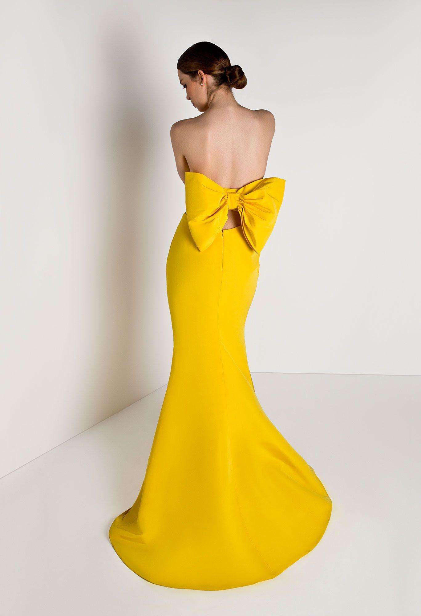 ac1cfc9a11 Bow-back Silk Faille Gown