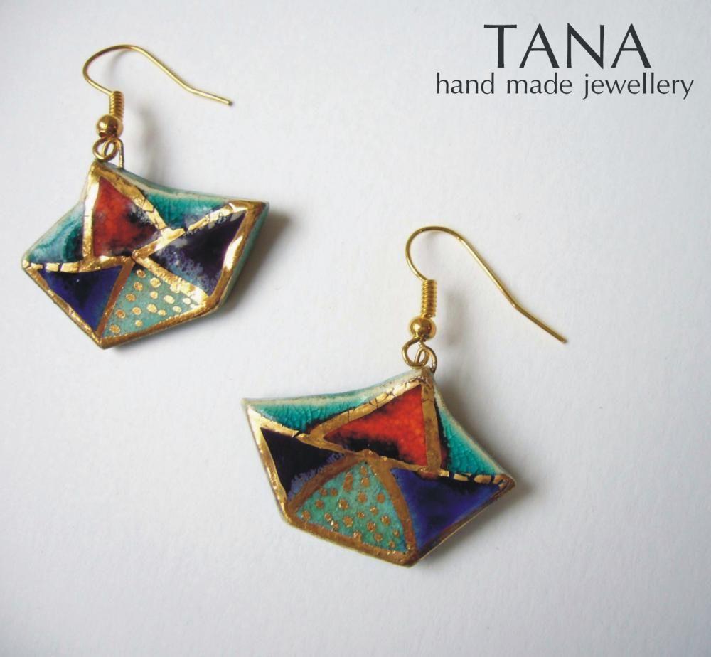 Tana šperky-keramika/zlato, ceramic jewelry with gold, sashe.sk