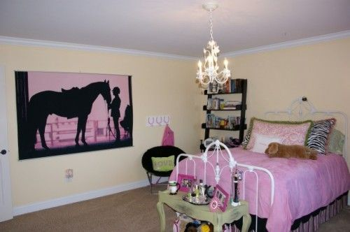 Beautiful Bedroom For A Young Horse Lover, I Would Love It.