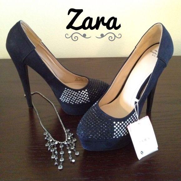 "$5 Credit w/code HSBGK. Spotted while shopping on Poshmark: ""HP Zara Diamante Heels""! #poshmark #fashion #shopping #style #Zara #Shoes"