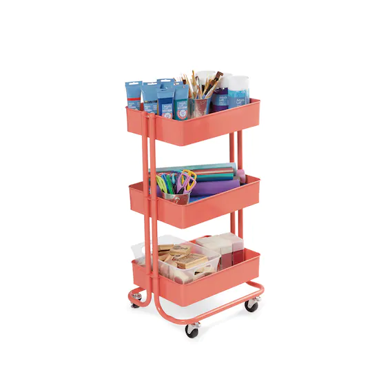 Lexington 3 Tier Rolling Cart By Simply Tidy In 2021 Rolling Cart Baby Bottle Storage Bottle Storage