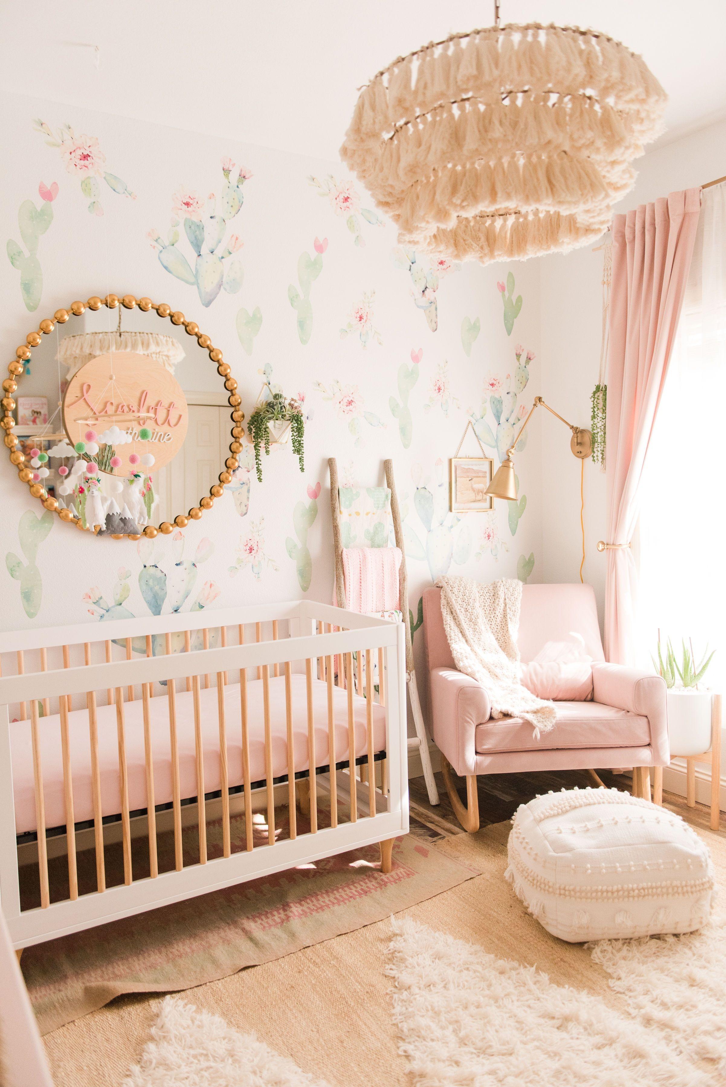 Full Cactus Nursery Reveal Girl Nursery Room Baby Nursery