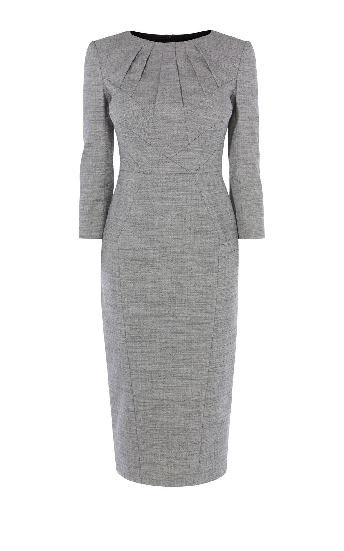 Black dress karen millen - Karen Millen Tailored Dress Grey