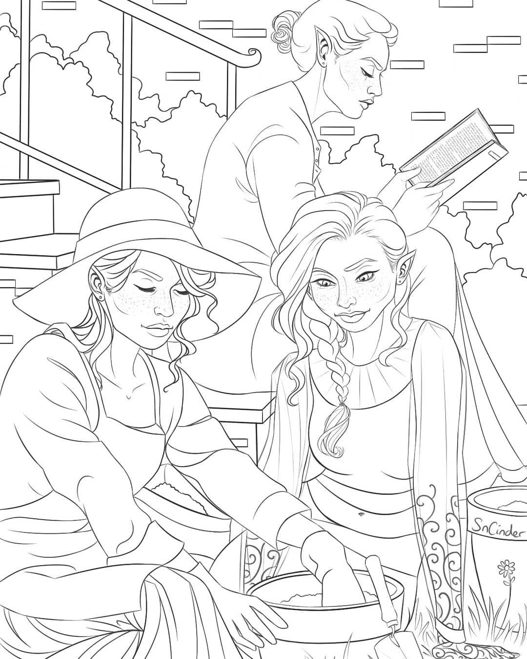 Archeron Sisters Colouring Page I Did For Faecrate Most Recent