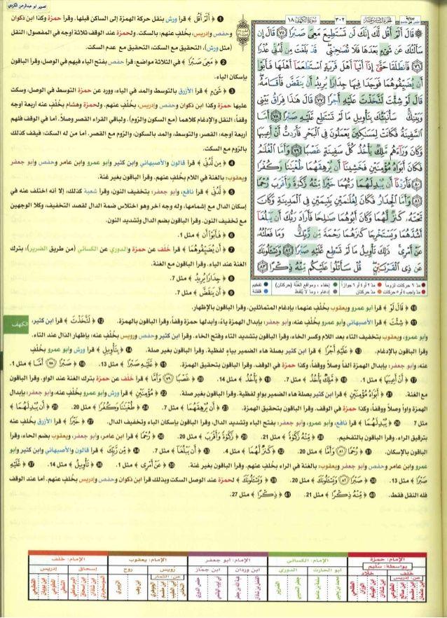 كتاب القراءات العشر الكبرى للشيخ المعصراوي بهامش مصحف التجويد بالترم
