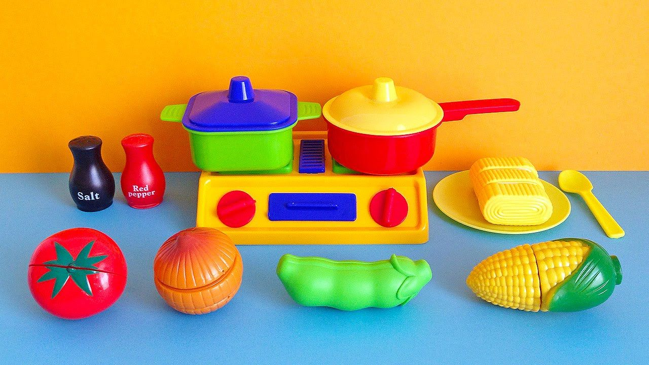 Soup Cooking Kitchen Playset - Toy cutting vegetables cooking toy ...