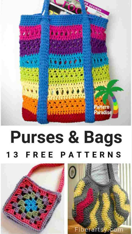 Free Crochet Patterns For Purses And Bags Crochet Pocketbooks