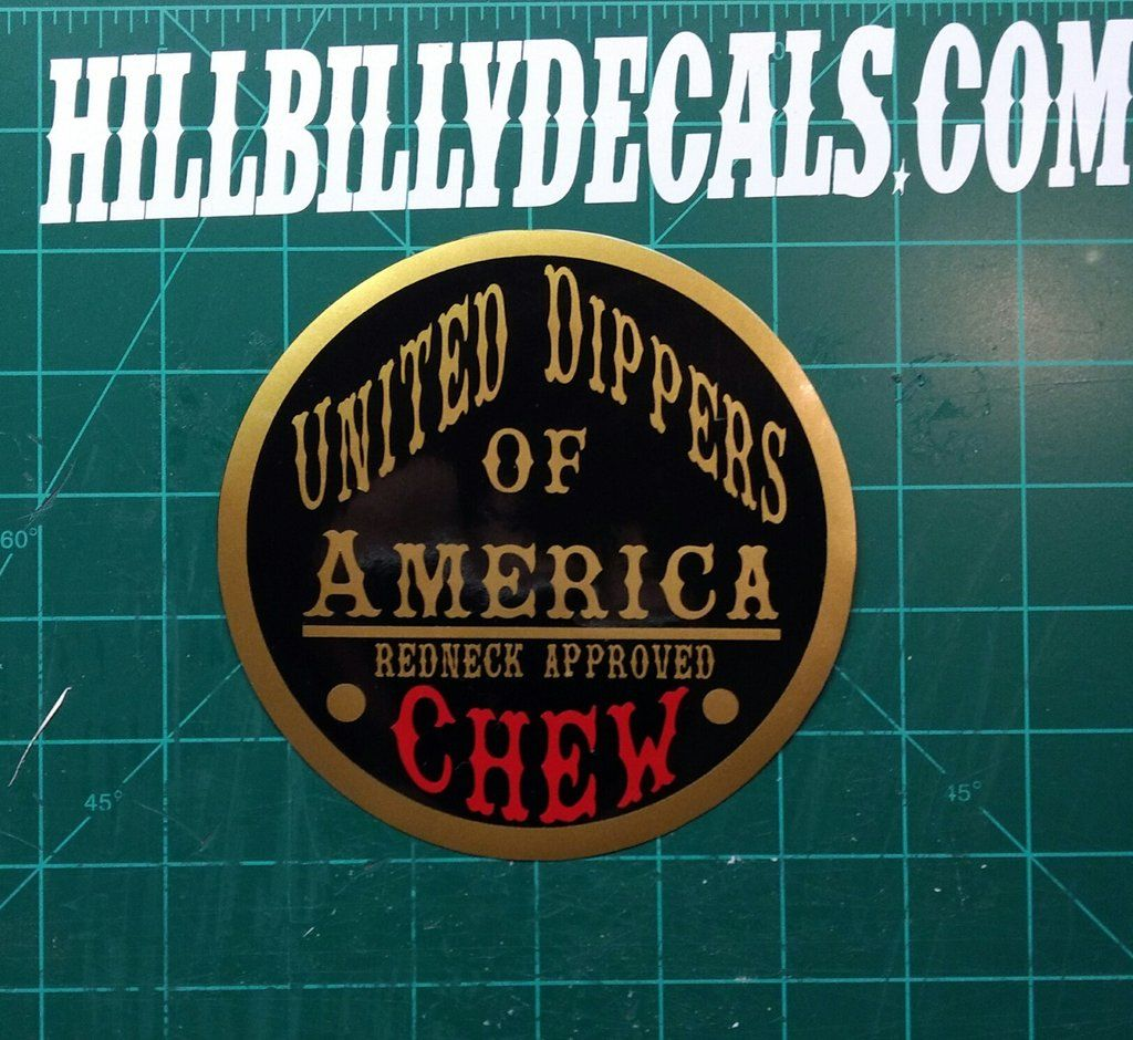 United Dippers Of America Vinyl Decal Hillbilly Decals - Transfer tape for vinyl decals