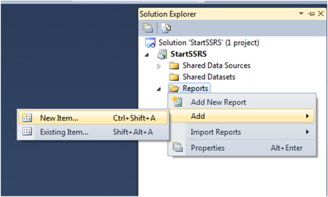 Custom Report Template In SSRS