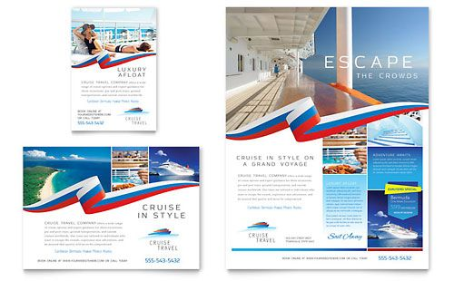 Cruise Travel flyer template fromLayouts – Flyer Samples Templates