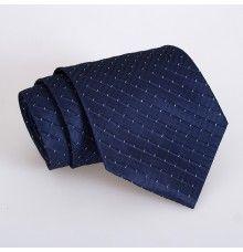Dark Navy Polka Dot Stripe Tie for Man
