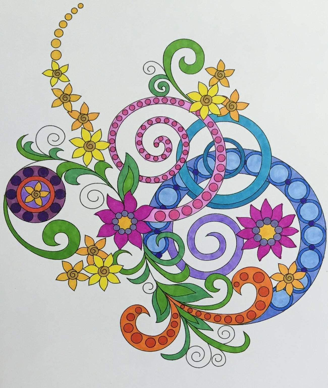 Coloring Book For Adults Amazing Swirls Happy Elena Bogdanovych 9781519703644