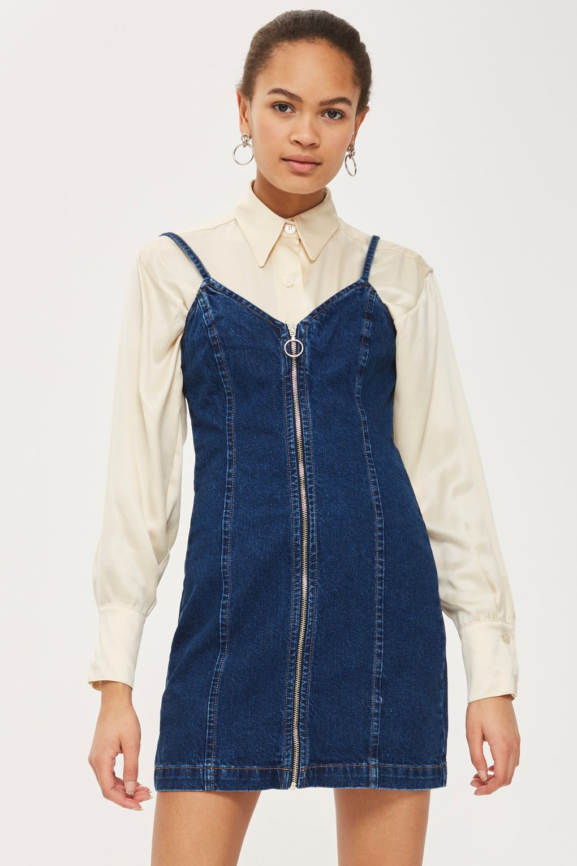 47ff0b4491c Zip Denim Dress | W E A R | Dresses, Denim outfit, Denim