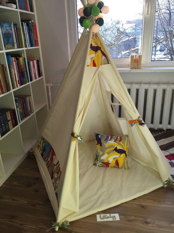 Kids teepee play tent + pillow wigwam  childrenu0027s teepee playtent tipi wigwam kids teepee tent play teepee high quality wigwam & Kids teepee play tent + pillow wigwam  childrenu0027s teepee ...