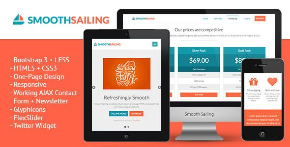 See More Smooth Sailing One Page Bootstrap 3 Landing Pagetoday