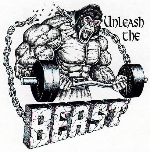 Unleash The Beast Gym Art Gorilla Tattoo Gym Logo