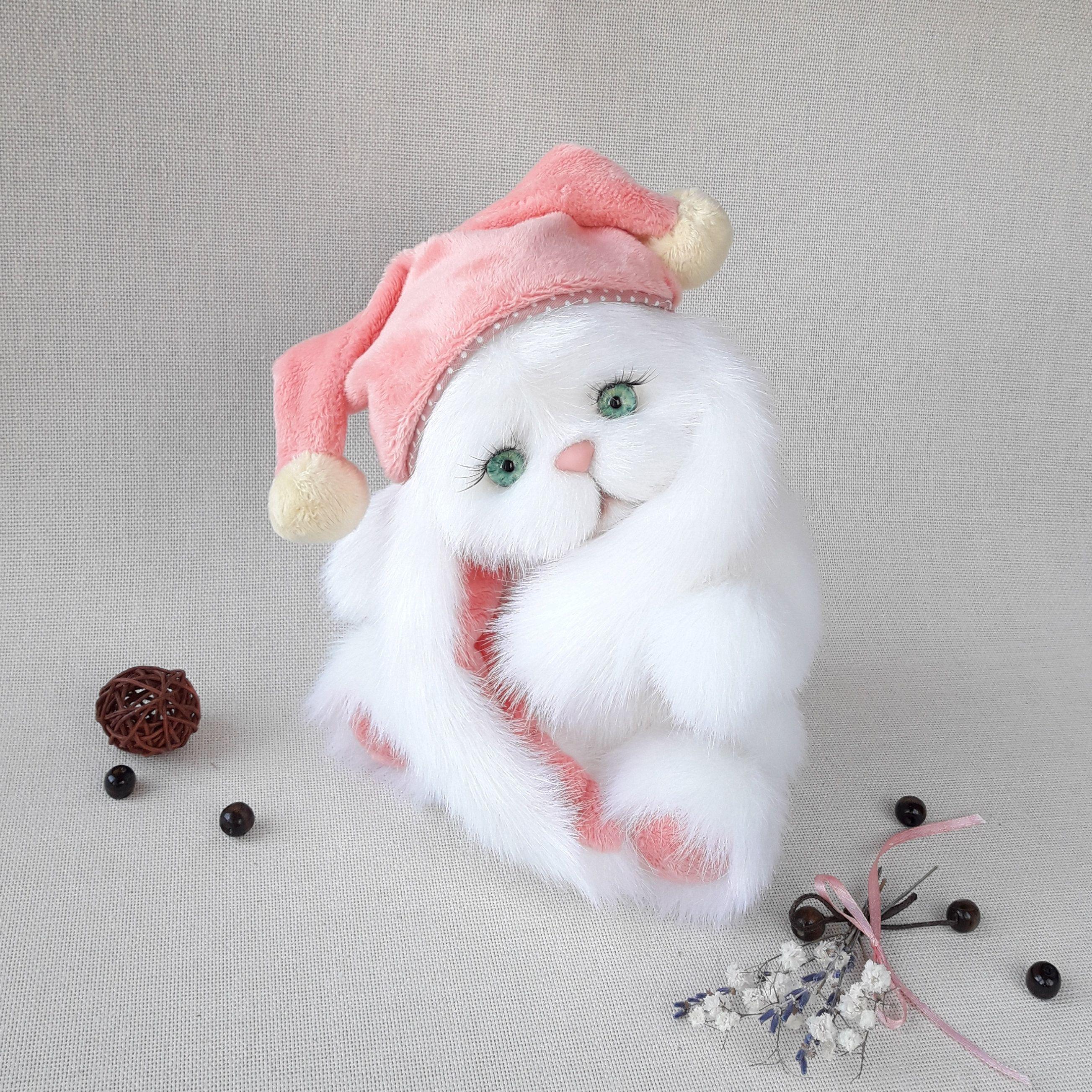 Plush bunny bunny Teddy/'s friends toy gift handmade bunny  White Bunny Teddy bears Birthday present Interior toy teddy cat make to order