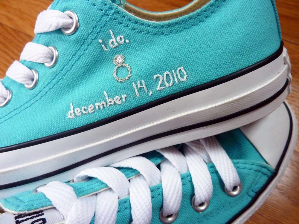 ba2d0bcfad embroidered converse! OMG!!! I love this!!! Must do this for our ...