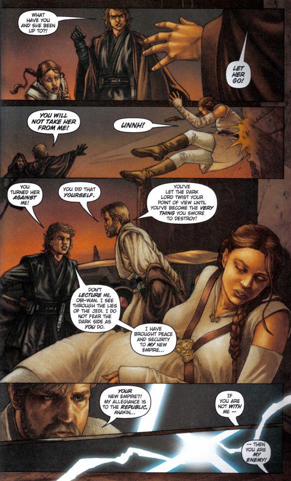 Star Wars Revenge Of The Sith Graphic Novel With Images Let Her Go Graphic Novel Novels