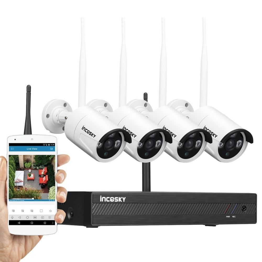 4CH 1080P NVR CCTV Indoor Outdoor Wireless Home Security Camera ...