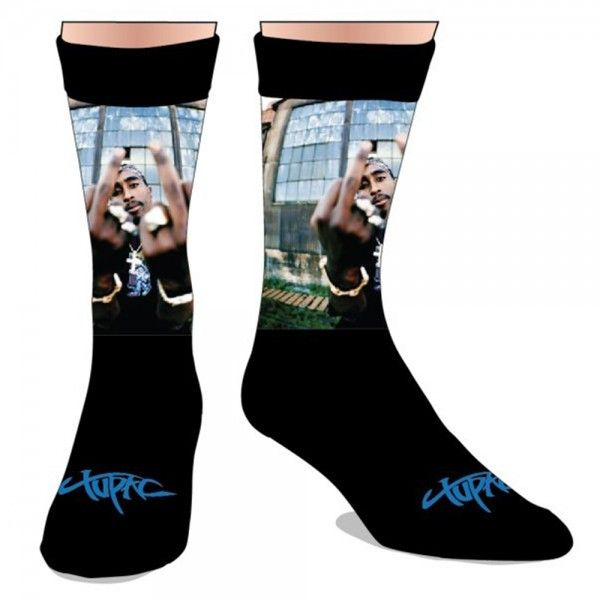 Tupac Sublimated Socks Unisex Tupac Clothing Sublimated Socks