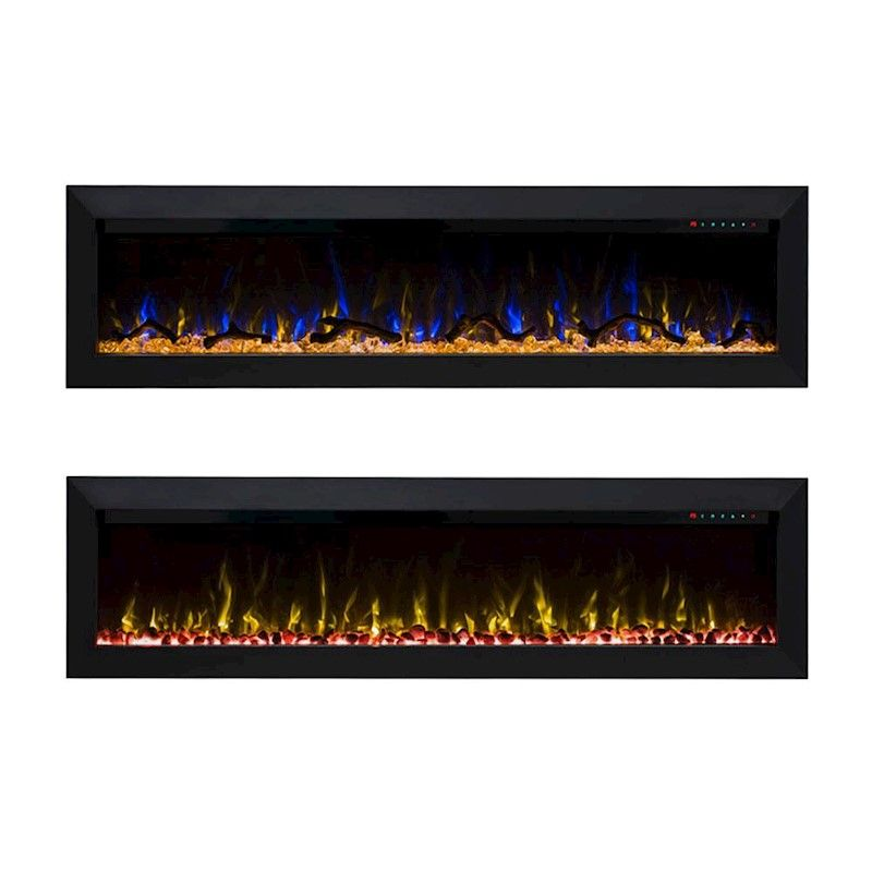 Herman 1500w 60 Inch Built In Recessed Electric Fireplace