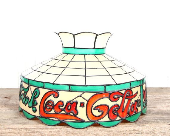 Antique Coca Cola Light Vintage Drink Plastic Table Old E Pool Lighting