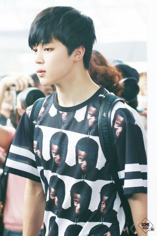 Park jimin's airport fashion and his face. They're both pretty great
