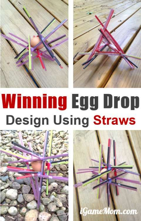 egg drop experiment w straws Egg drop experiment  large grade aa chicken egg 2 up to 100 plastic drinking straws (examples: mcdonalds, burger king, or pvhs  mass of contraption with egg .