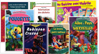 ملفات رقمية مختارات عناوين قصص فرنسية سنة 5 و 6 Book Cover Comic Book Cover Books