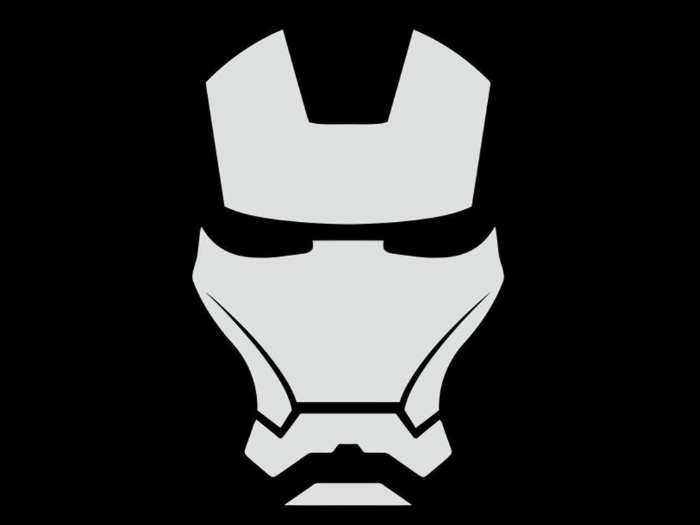 Iron man helmet car van laptop scooter vinyl decal sticker