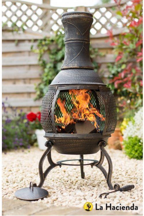 Chiminea Patio Heater Steel Wood Burner Garden Fire Pit Bbq Outdoor Yard Gift Garden Shop Fire Pit Bbq Garden Fire Pit
