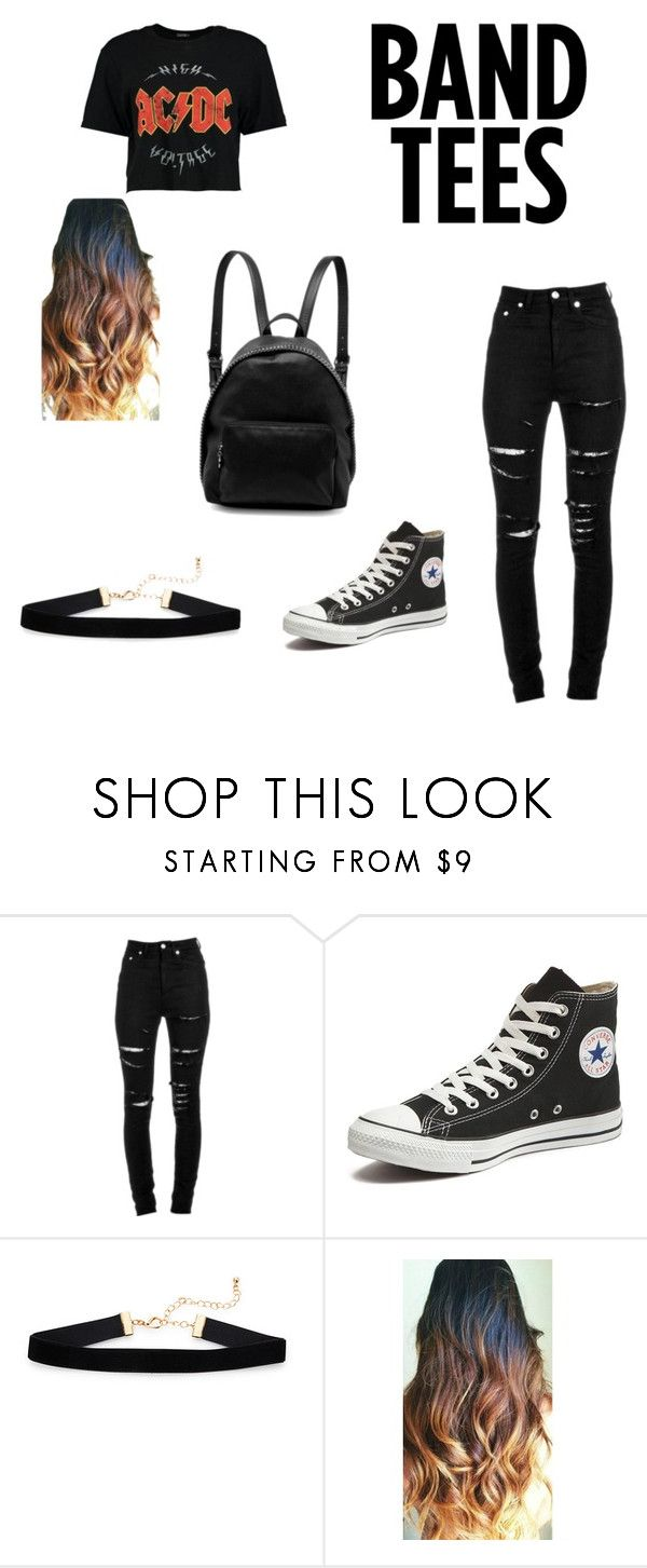 """Untitled #17"" by tkaymkay ❤ liked on Polyvore featuring Yves Saint Laurent, Converse and STELLA McCARTNEY"