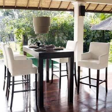 Mesa alta asia comedor moderna desayunador madera 130x75x105 soluciones inventivas para - Mesa alta comedor ...