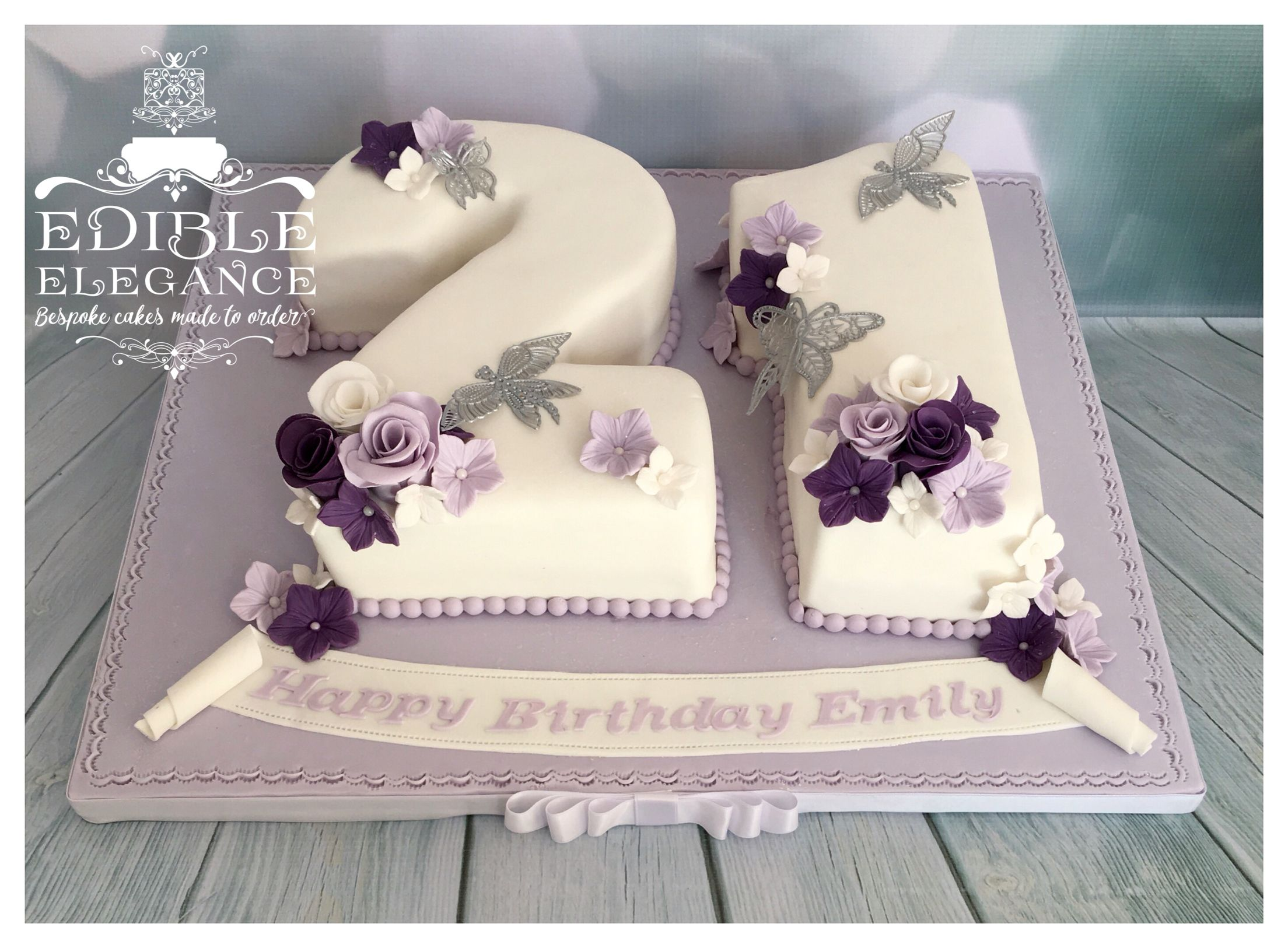 Gorgeous Lavender Purple And White Number Cake For A 21st